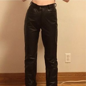 Vintage Laurence Roy high-waisted leather pants